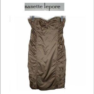 Nanette Lepore Ruched Strapless Dress